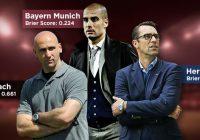 Оценка результатов матчей лиги Bundesliga с помощью показателя Бриера